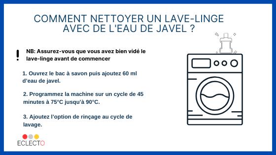 nettoyer machine à laver javel