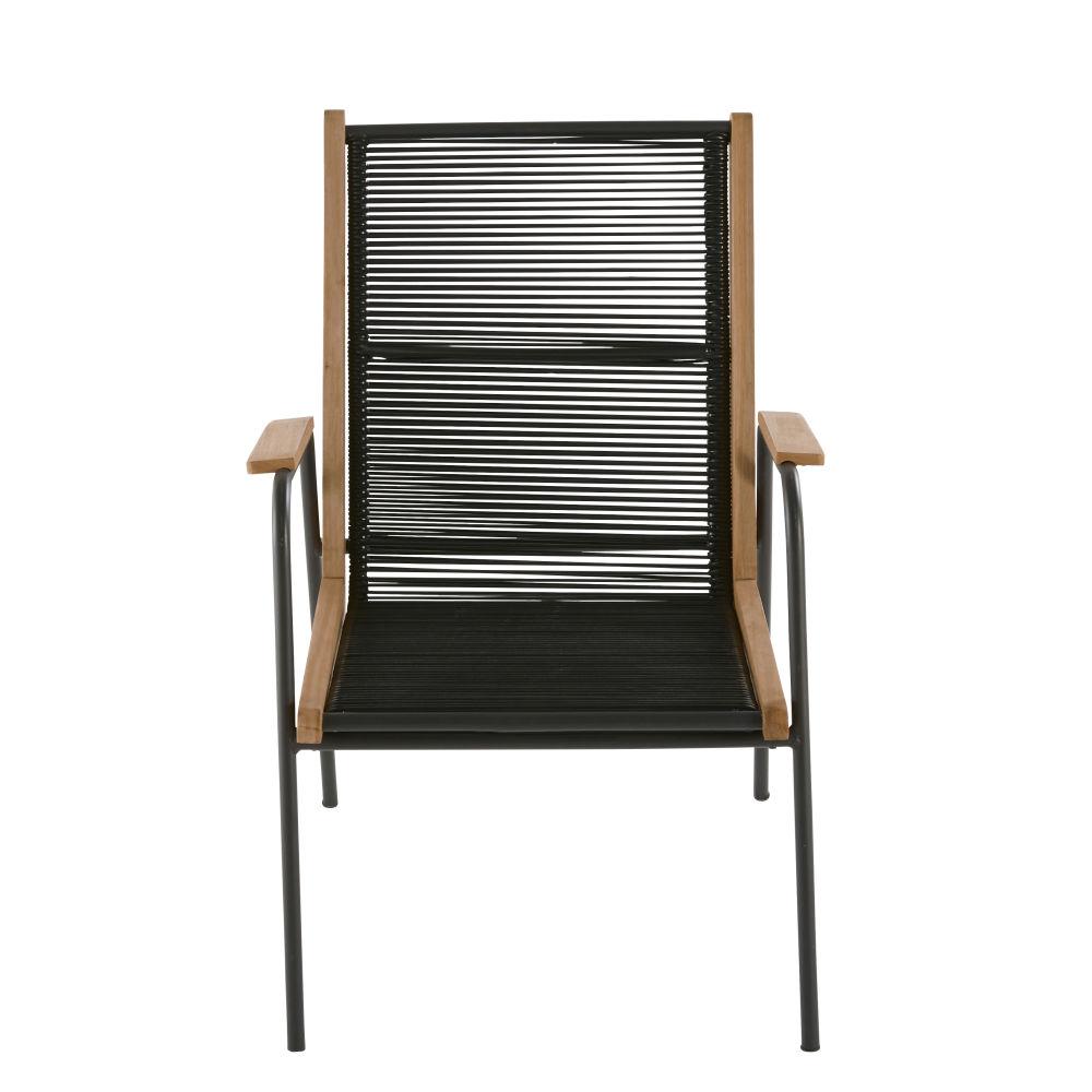 fauteuil de jardin en resine noire